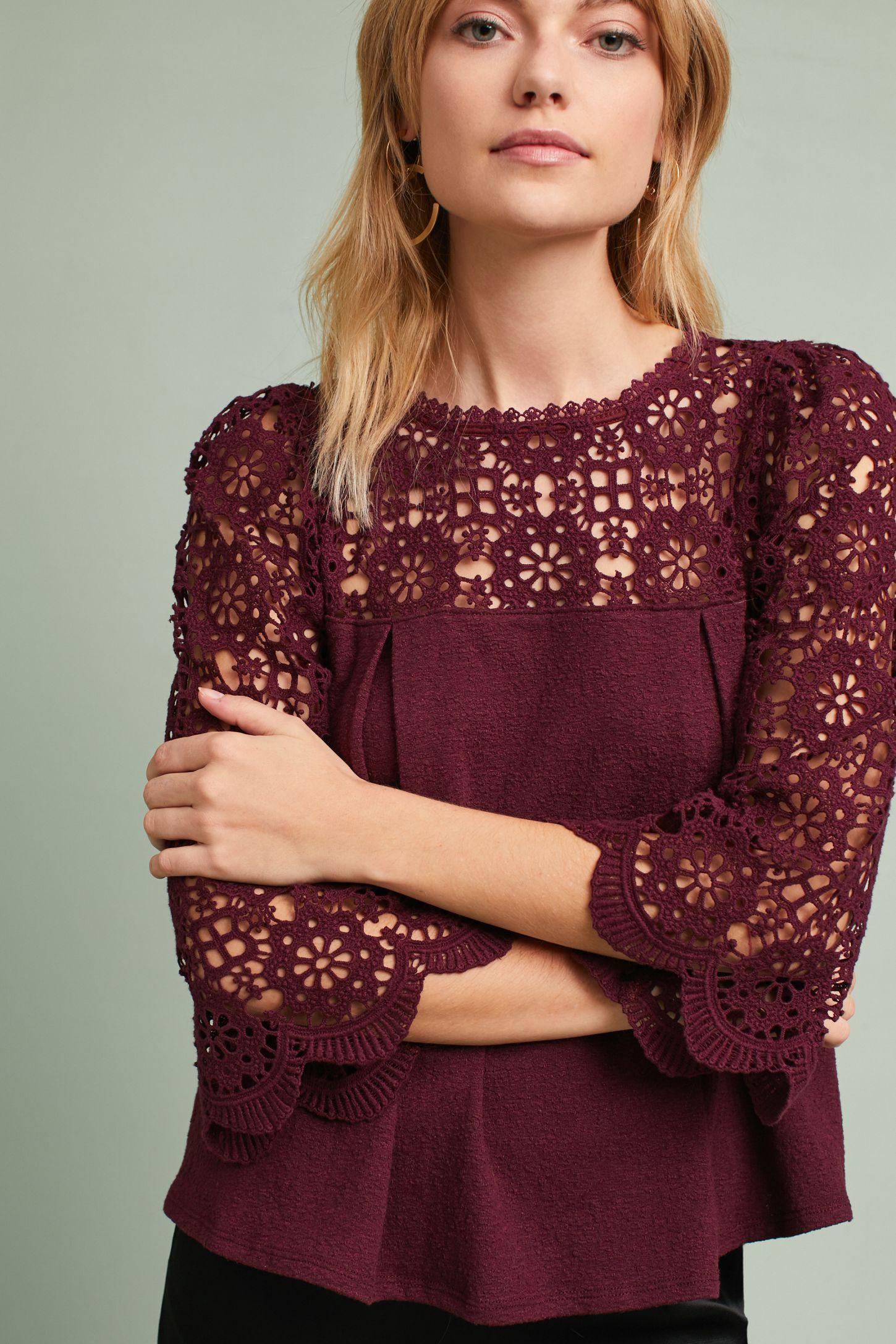 bf51a9ba20c8b Marigold Lace Top