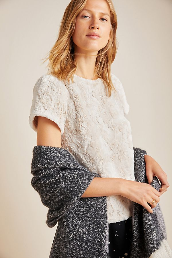 Slide View: 1: Fluffy Sweater Tee