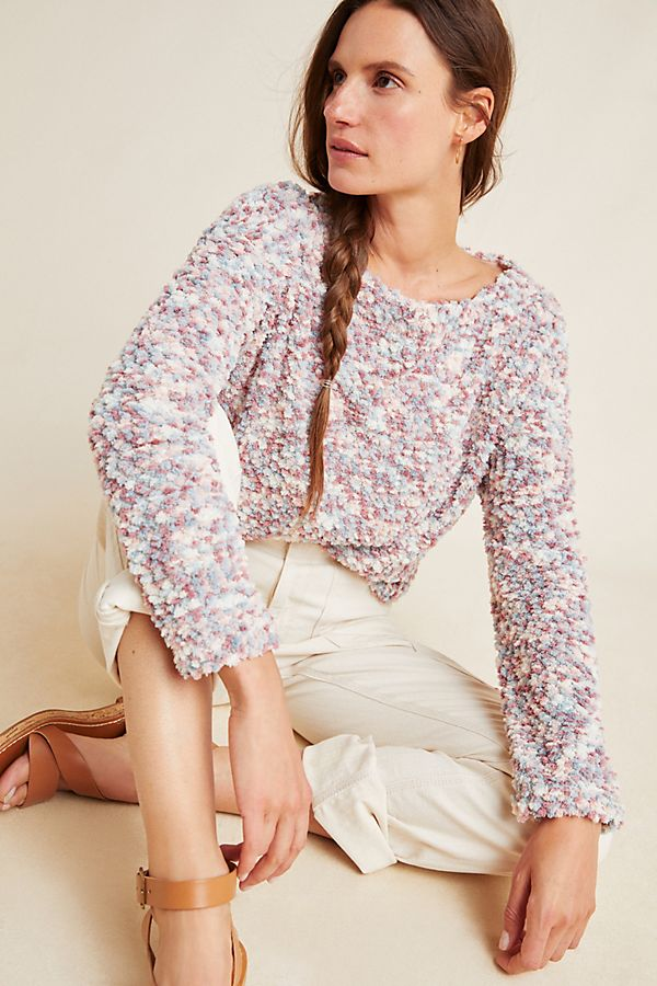 Slide View: 1: Estelle Boucle Knit Top