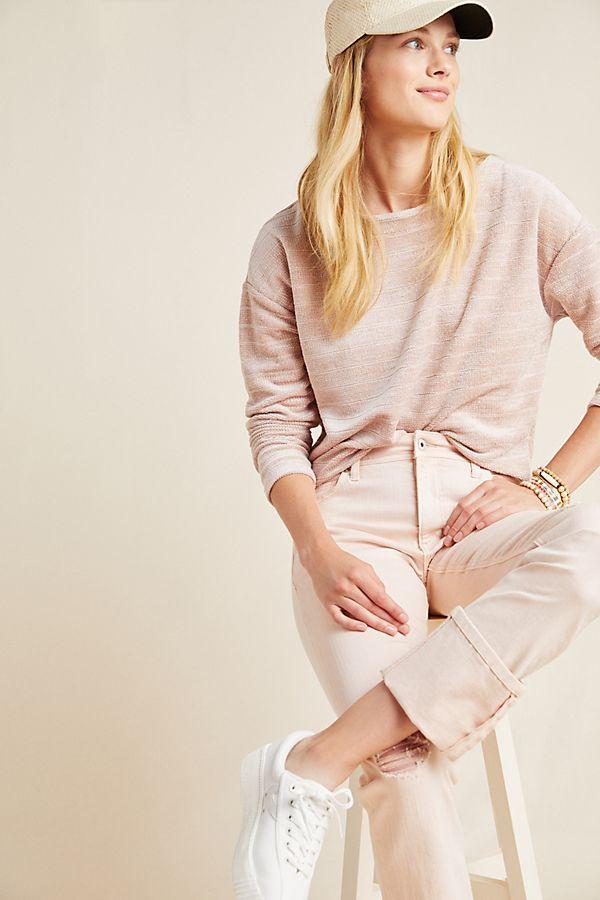 Slide View: 1: Romy Chenille Knit Pullover