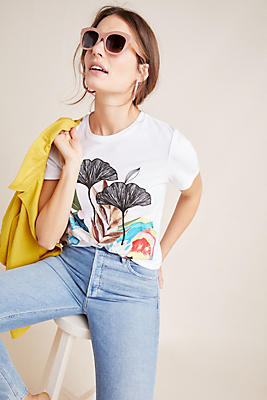 Slide View: 1: Lily Pond Embroidered Tee
