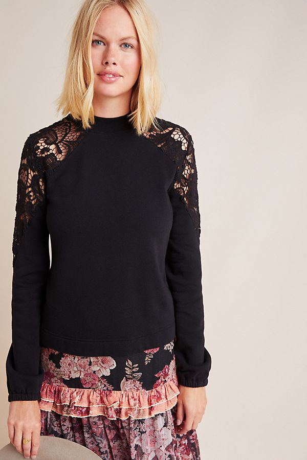 Slide View: 3: Raquel Lace Sweatshirt