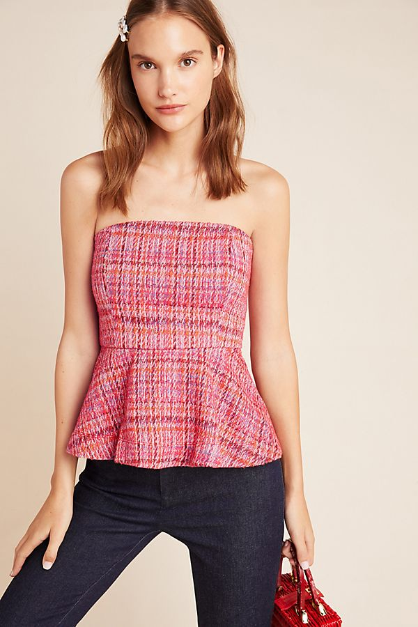 Slide View: 1: Shannon Peplum Cropped Top