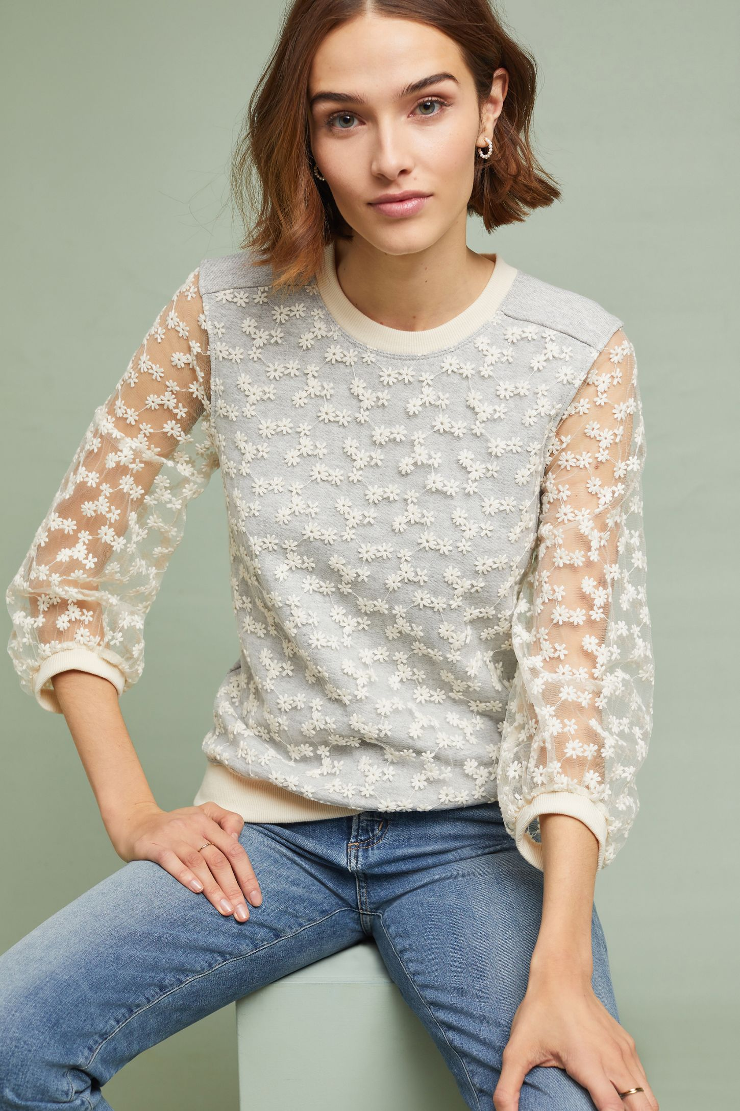 e86cc3bf796b Daisy Lace Pullover | Anthropologie