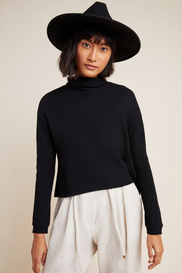 Slide View: 4: Mirielle Mock Neck Sweater