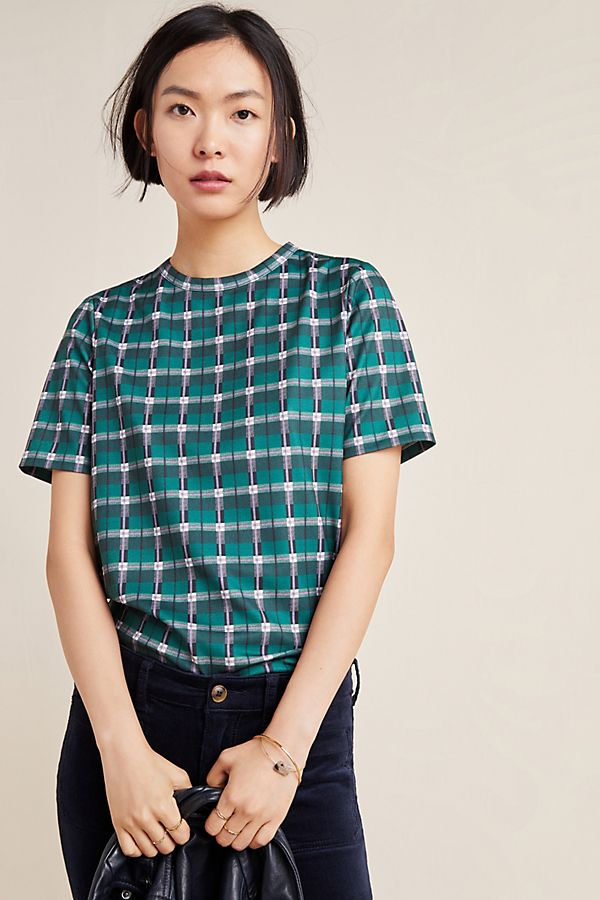 Slide View: 1: Esme Plaid Top