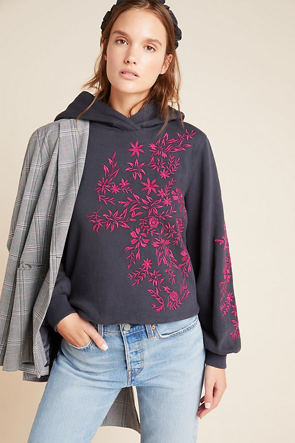 Slide View: 1: Waverly Embroidered Hoodie