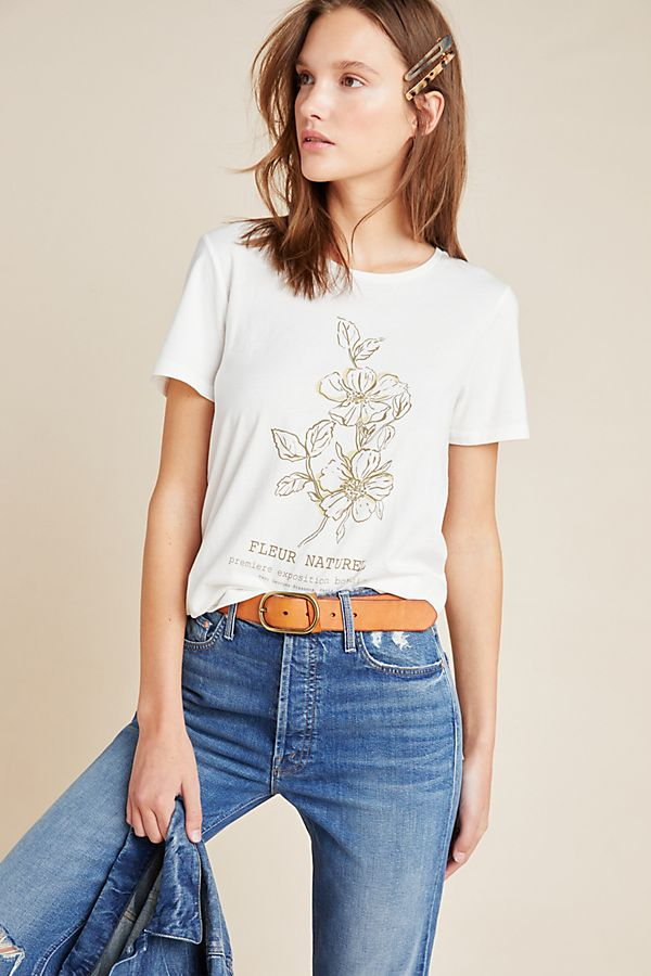 Slide View: 1: Fleur Naturel Graphic Tee