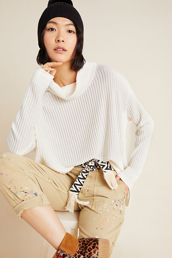Slide View: 1: Vanna Cowl Neck Pullover