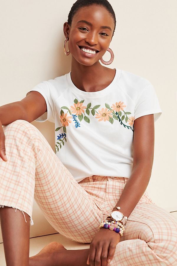 Slide View: 1: Peyton Embroidered Tee