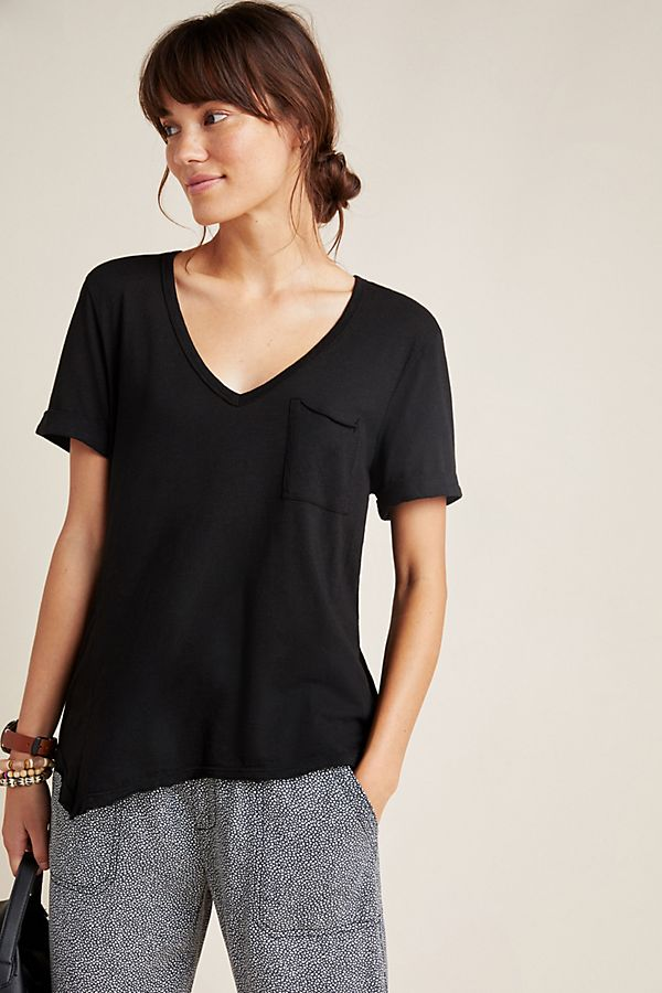 Slide View: 1: Riley Asymmetrical Pocket Tee