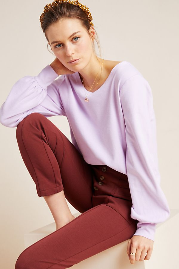 Slide View: 1: Crowley Puff-Sleeved Pullover