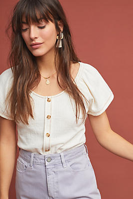 Slide View: 1: Tibby Button-Front Top
