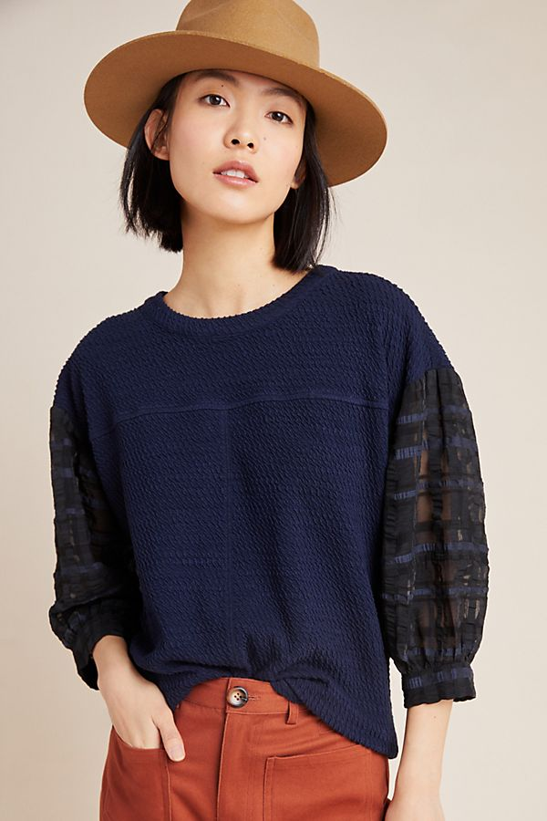 Slide View: 1: Carlisle Textured Pullover