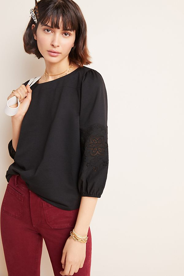 Slide View: 1: Lailah Puff-Sleeved Top