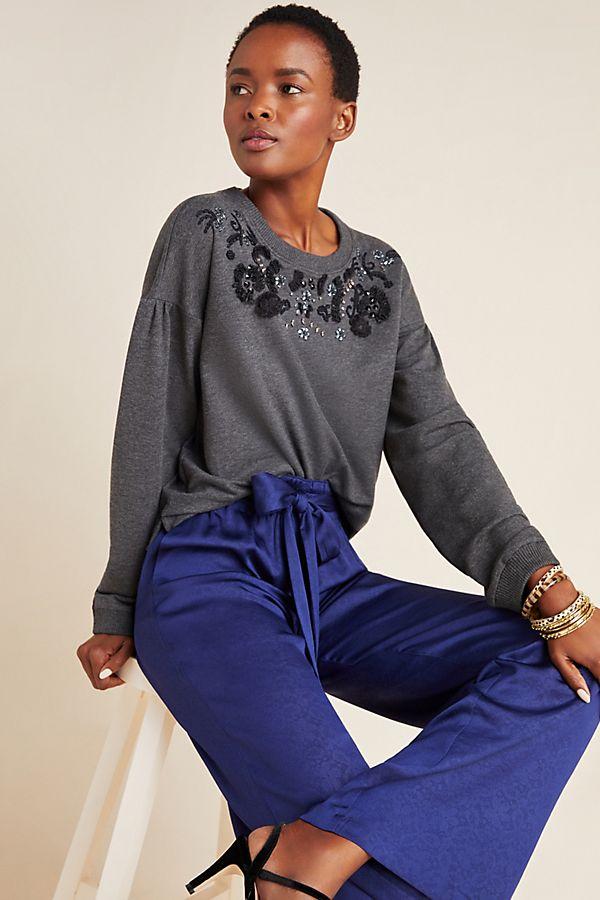 Slide View: 1: Tallie Beaded Sweatshirt