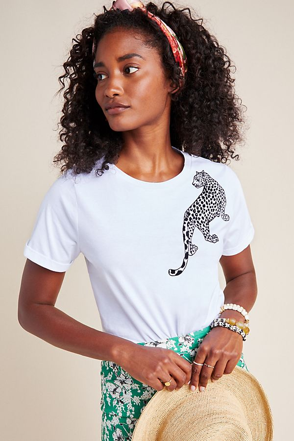Slide View: 1: Leopard Graphic Tee