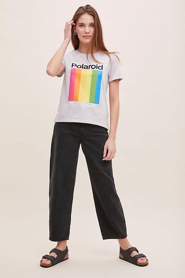 Slide View: 3: Polaroid-Logo Tee