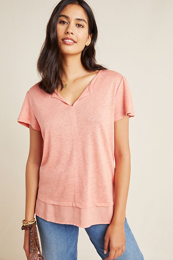 Slide View: 1: Sanctuary Uptown Linen Tee