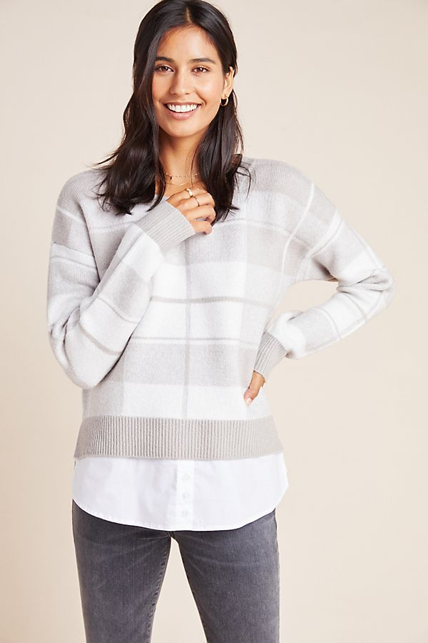 Slide View: 1: Shayla Plaid Pullover