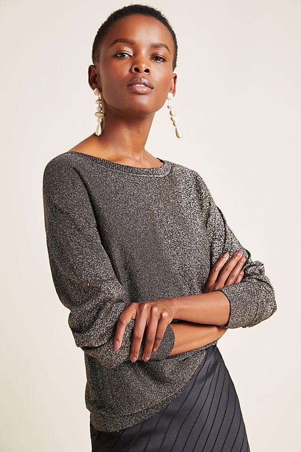 Slide View: 1: Abril Shimmer Pullover