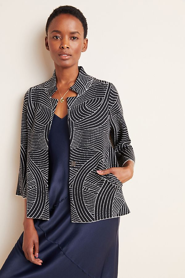 Slide View: 1: Pietra Knit Jacket