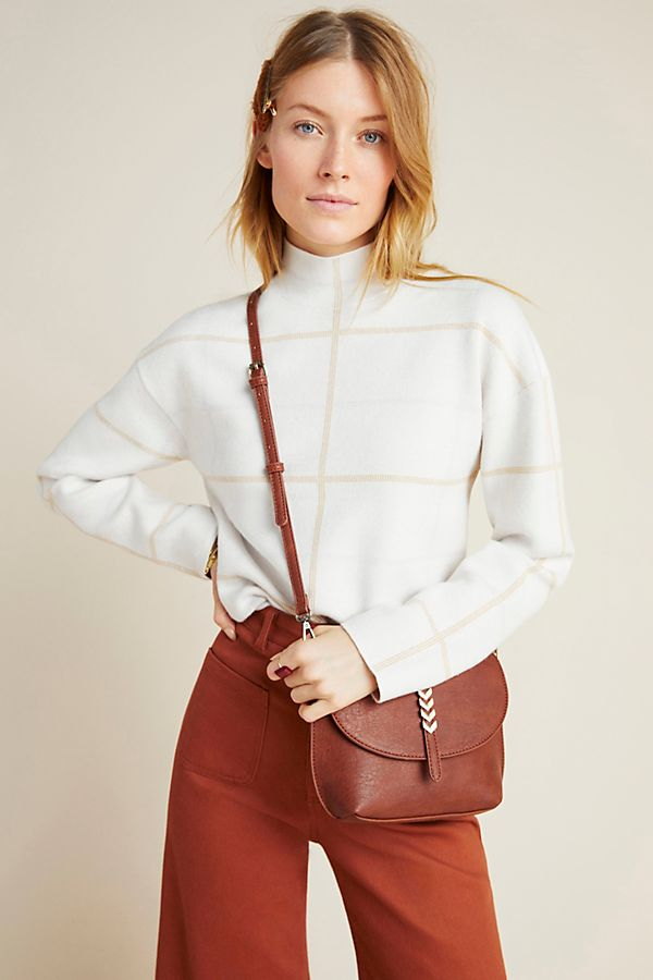 Slide View: 1: Ivanna Mock Neck Sweater