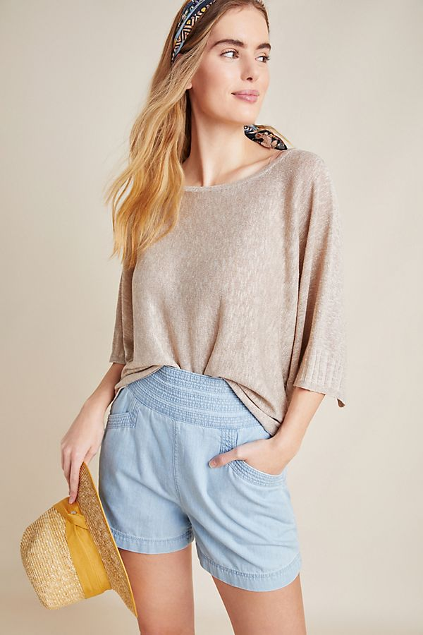 Slide View: 1: Alicia Shimmer Pullover