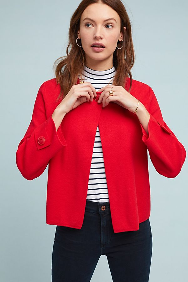 Slide View: 1: Jessalyn Knit Blazer