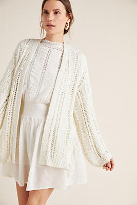 Slide View: 1: Etiennette Fringed Cardigan