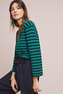 Slide View: 1: Resme Striped Pullover