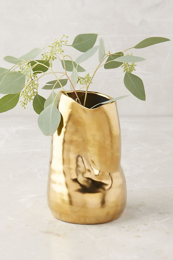 Goldshine Vase by Anthropologie