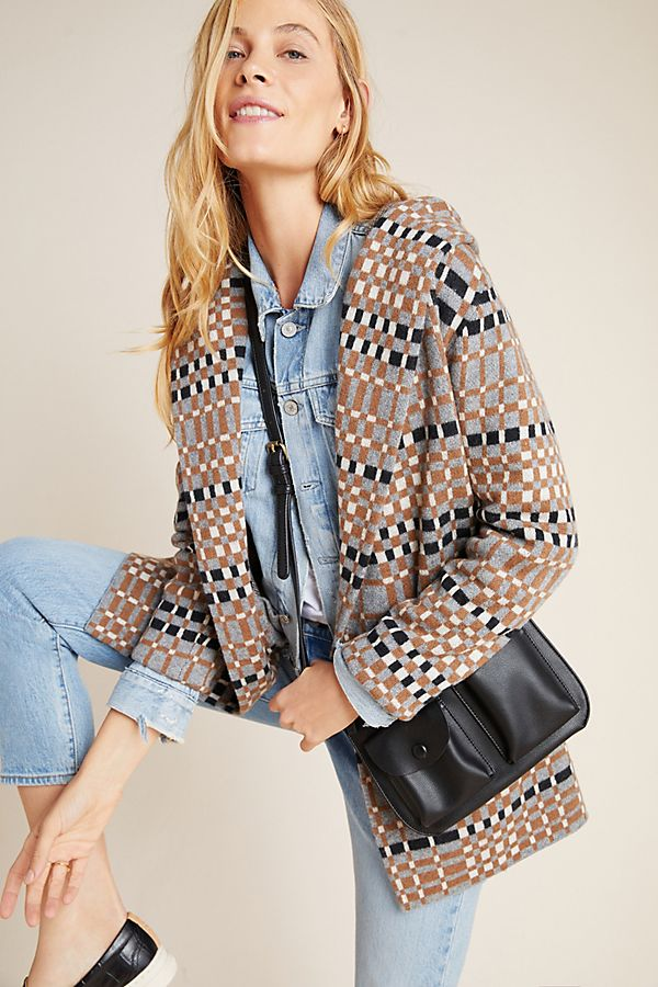 Slide View: 1: Josefa Wool Sweater Coat