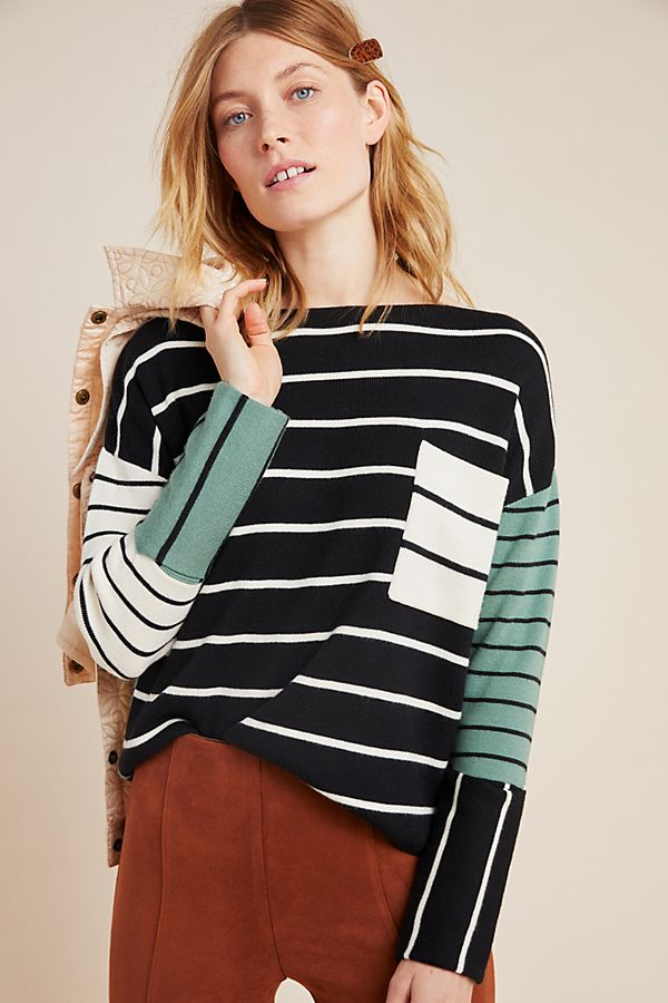 Slide View: 1: Faye Striped Sweater