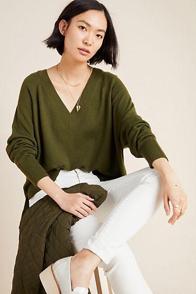 Gabby V-Neck Merino Sweater