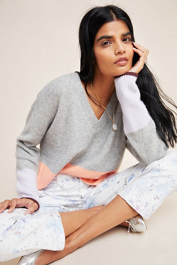 Slide View: 1: Ronita Colorblocked Sweater
