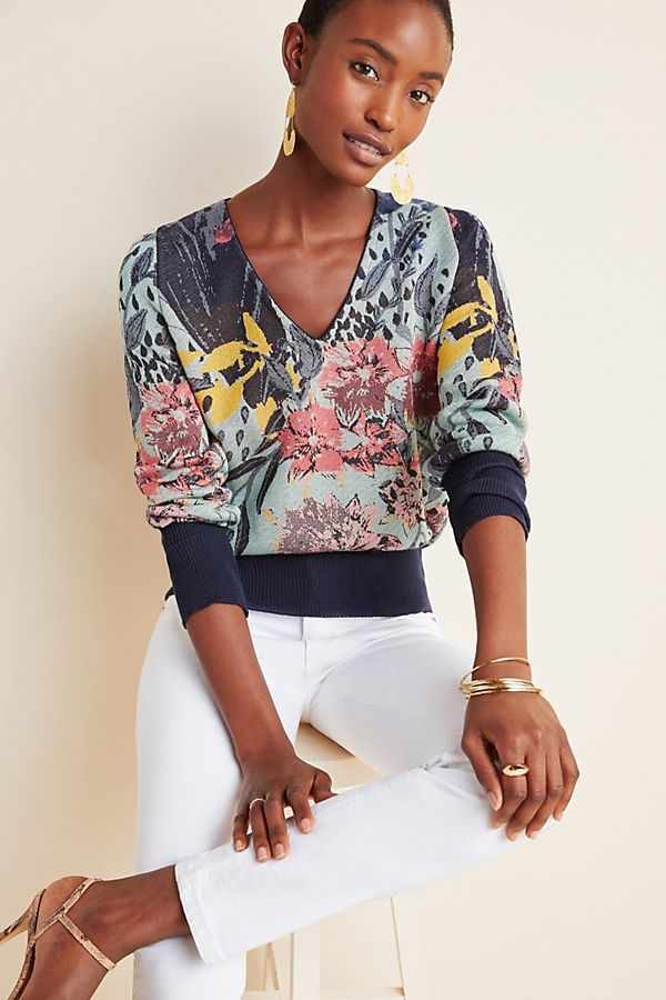 Slide View: 1: Ace Floral Pullover