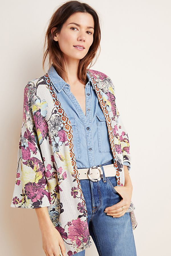 Slide View: 1: Simone Floral Cardigan