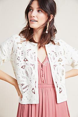 Slide View: 1: Lace Kimono
