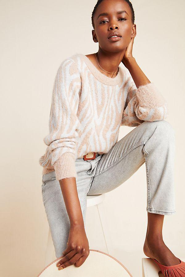 Slide View: 1: Rebecca Taylor Zebra Sweater