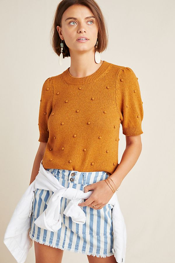 Slide View: 1: Pommed Sweater Top