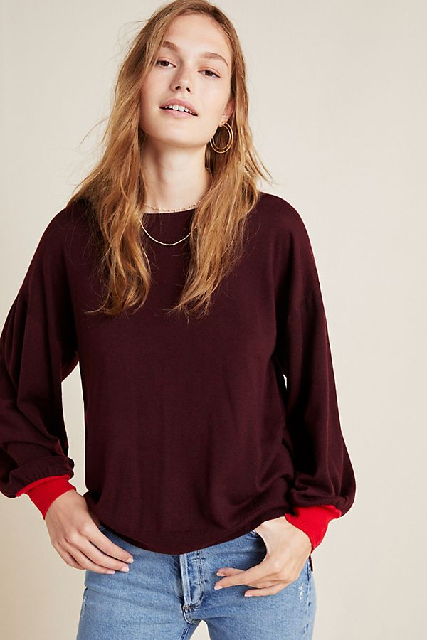 Slide View: 4: Therese Balloon-Sleeved Sweater