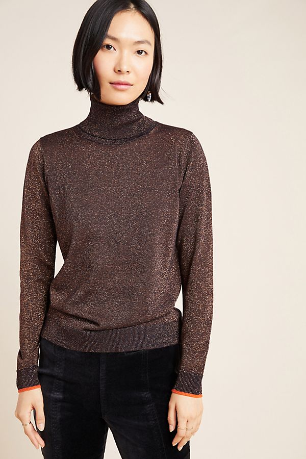 Slide View: 4: Cobie Shimmer Turtleneck