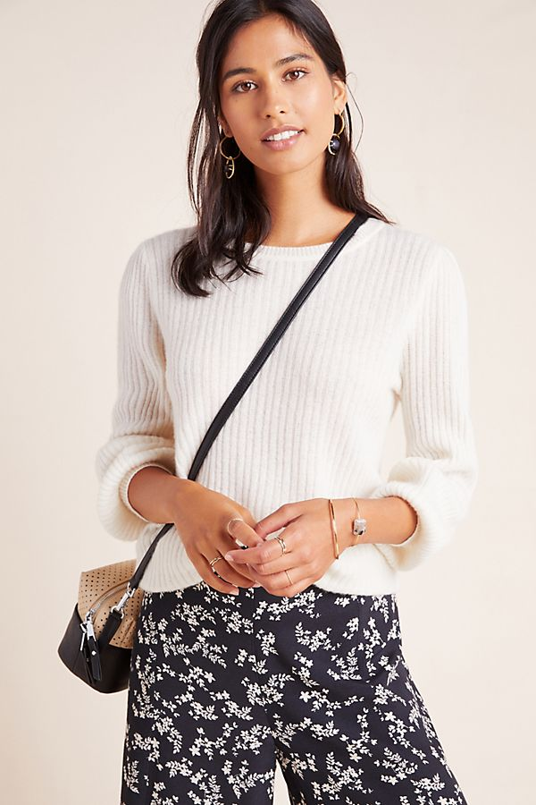 Slide View: 1: Gwynn Ribbed Cashmere Sweater