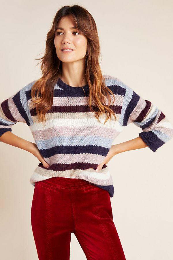 Slide View: 1: Calista Striped Sweater