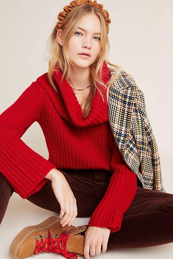 Slide View: 1: Luisina Cowl Neck Sweater