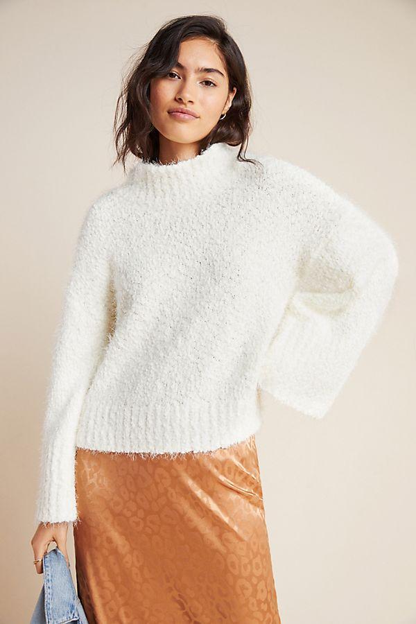 Slide View: 1: Sidonie Mock Neck Sweater