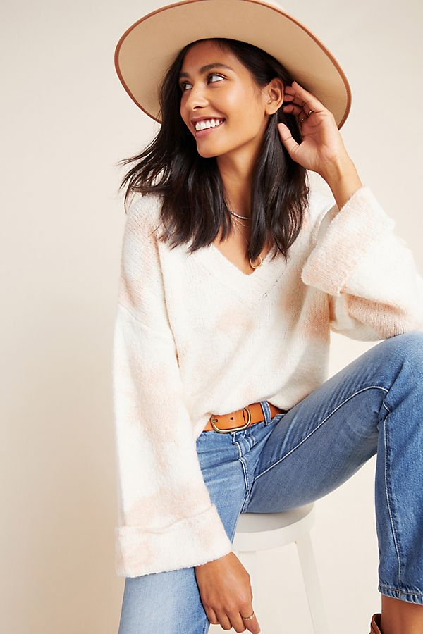 Maggie Bell Sleeved Sweater by Anthropologie