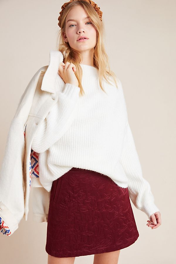 Slide View: 1: Francine Mock Neck Sweater