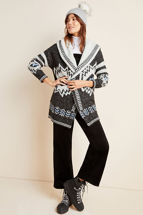 Slide View: 1: Nia Geometric Cardigan